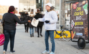 Biocoop en affichage mobile Bike'Com à Lille - NON STOP MEDIA Nord