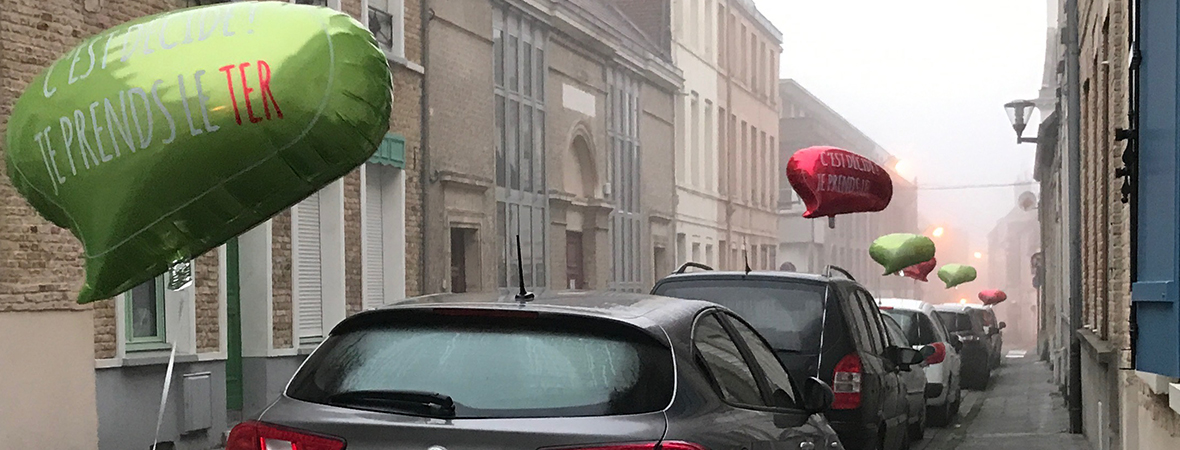 Guerilla Ballons pour la SNCF avec NON STOP MEDIA Nord