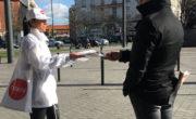 Diffusion street marketing de la main à la main pour Nexity avec NON STOP MEDIA Nord