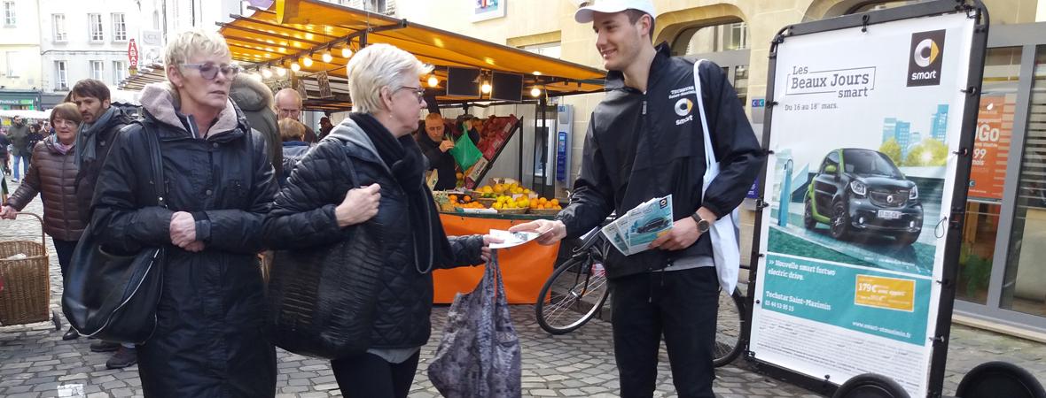 Affichage Bike'Com pour Smart avec NON STOP MEDIA Nord