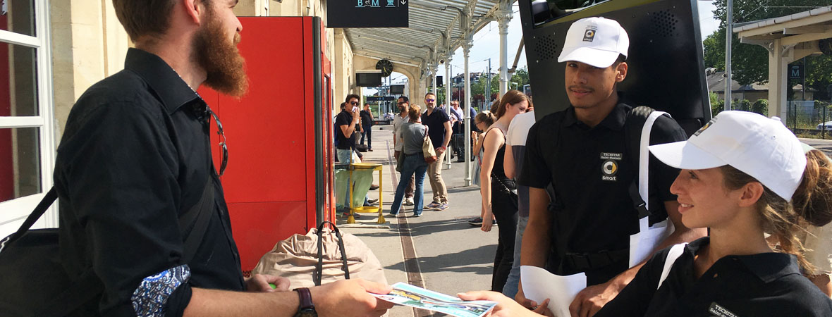 body screen et street marketing pour Smart avec NON STOP MEDIA Nord