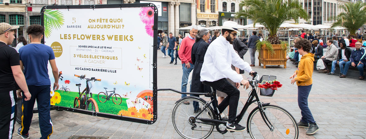 Casino Barriere - affichage mobile- street marketing - NON STOP MEDIA Nord