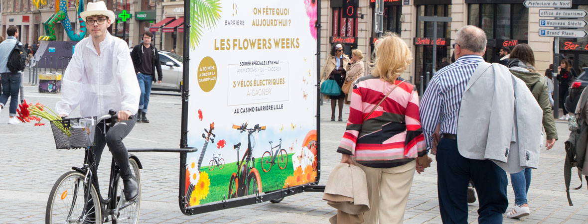 Barriere - affichage mobile- street marketing - NON STOP MEDIA Nord