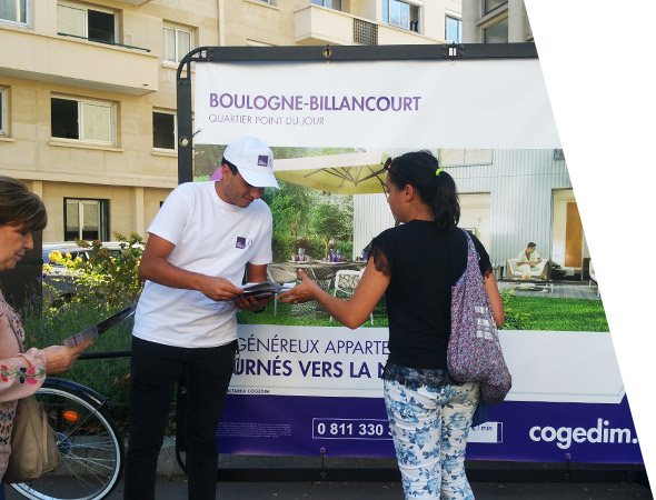 Le vélo publicitaire Bike'Com, affichage mobile - NON STOP MEDIA Normandie