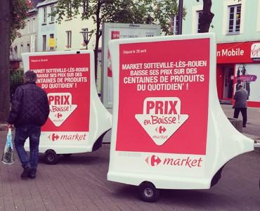 Carrefour affiche ses promos en Bike