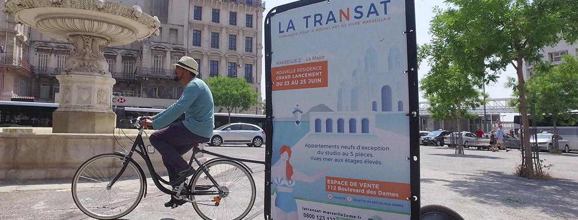 Marketing de proximité : animateur en Bike Com dans les rues de Marseille NON STOP MEDIA PACA