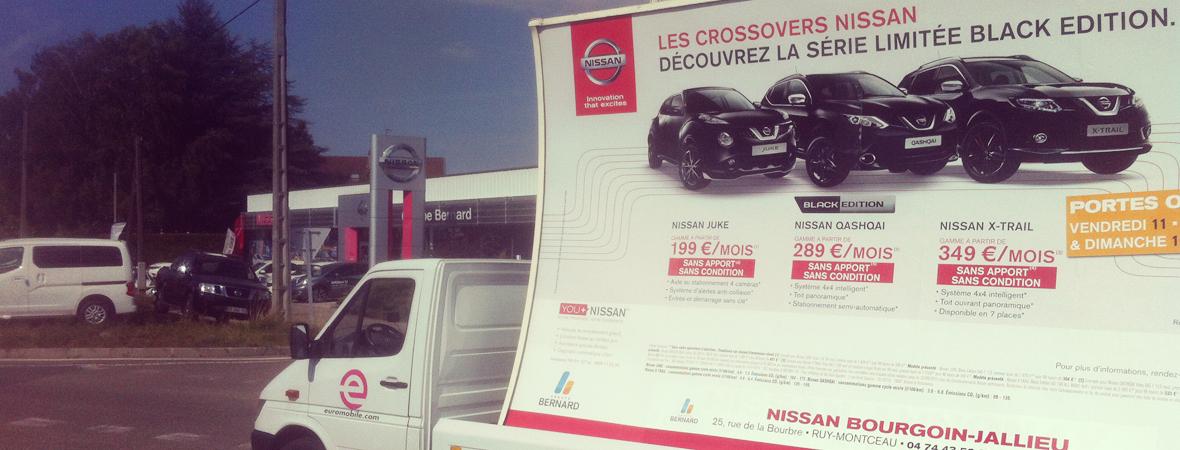 Nissauto - Affichage mobile - NON STOP MEDIA Rhône Alpes