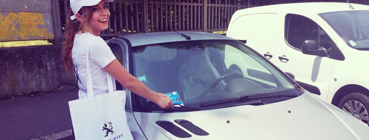 Distribution de flyers pour Peugeot - NON STOP MEDIA Rhône Alpes