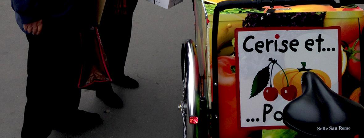 Le triporteur, un affichage mobile pour Cerise et Potiron - NON STOP MEDIA Rhône Alpes