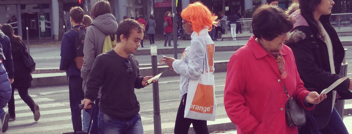 Orange - Street Marketing - NON STOP MEDIA Rhône Alpes