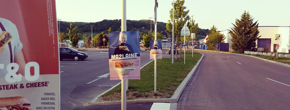 Subway - Street Marketing - NON STOP MEDIA Rhone Alpes