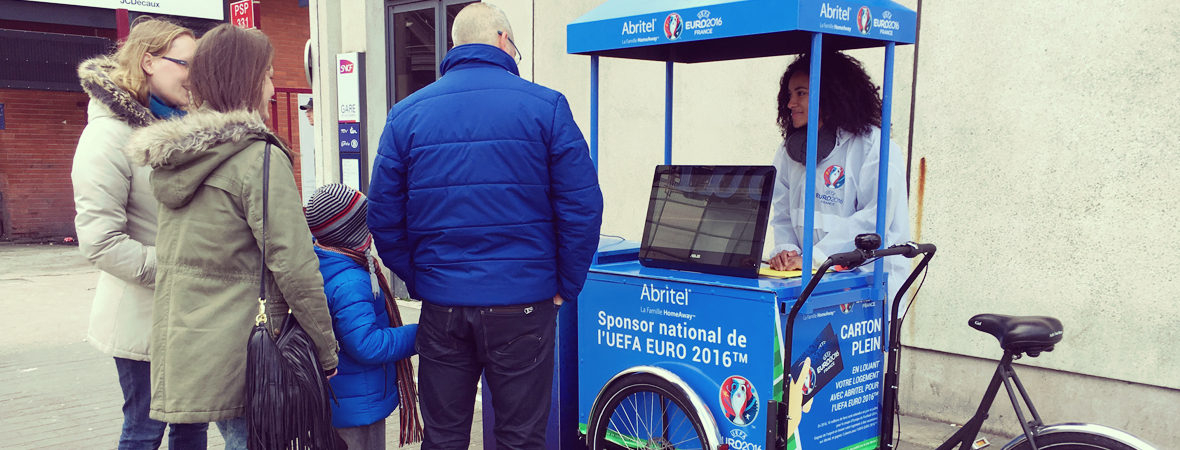 Abritel Trophy Tour - Street Marketing - Affichage mobile - NON STOP MEDIA Rhone Alpes