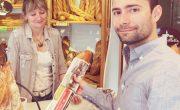 Diffusion de sacs à baguette publicitaires pour BDP Marignan avec NON STOP MEDIA Rhone Alpes