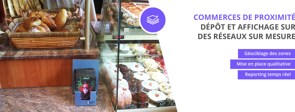 Dépôts et affichage dans les commerces de proximité - NON STOP MEDIA Rhône Alpes