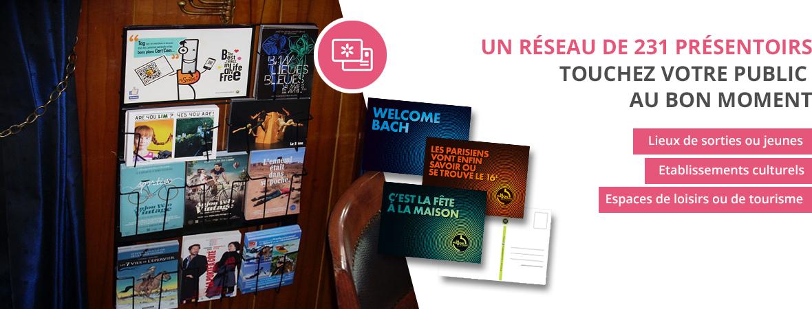 Réseau de diffusion Cart'Com, la carte postale publicitaire créative - NON STOP MEDIA Rhône Alpes