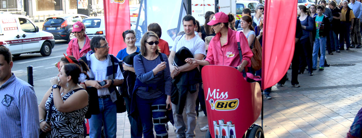 BIC - Affichage mobile - Street marketing - Groupe NON STOP MEDIA