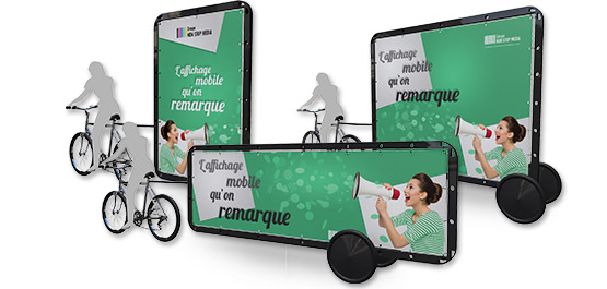 Affichage publicitaire mobile, le velo publicitaire