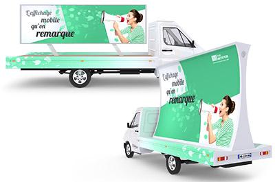 Le camion publicitaire panoramique - Affichage publicitaire mobile