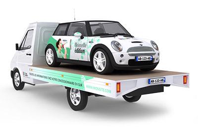 Le camion podium publicitaire 3D - Affichage publicitaire mobile