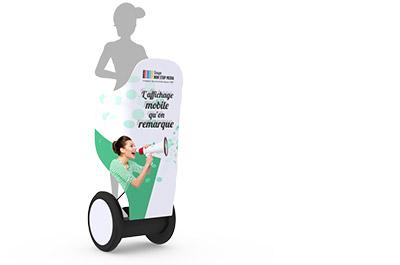 Le gyropode Segway électrique- Affichage publicitaire mobile