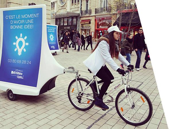Villéo - Affichage mobile - Bike'Com - Groupe NON STOP MEDIA