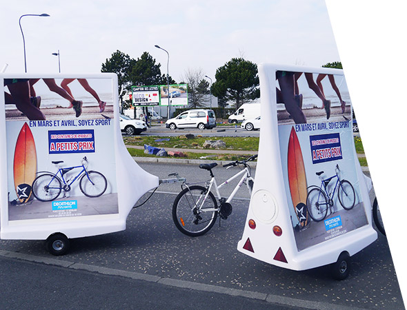 Decathlon - Affichage mobile - Bike'Com - Groupe NON STOP MEDIA