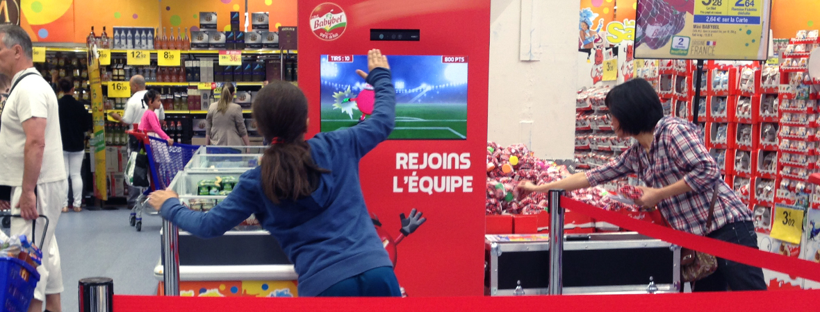 Babybel en animation in store - Groupe NON STOP MEDIA