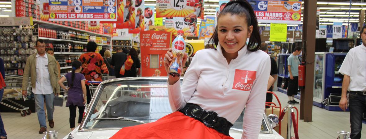 Coca Cola anime les supermarchés - Gorupe NON STOP MEDIA