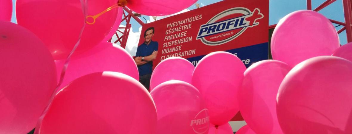 Profil + et son opération de guérilla ballons - Groupe NON STOP MEDIA