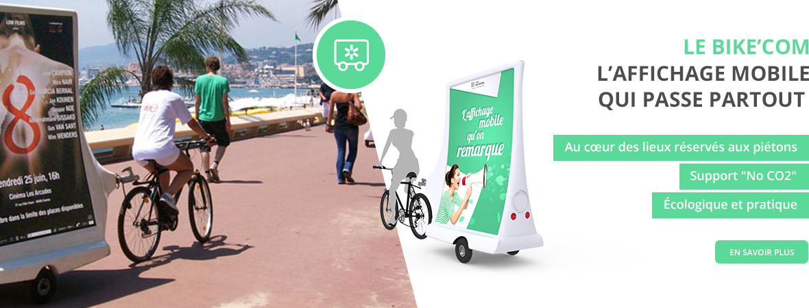 Affichage mobile - Bike'Com - Groupe NON STOP MEDIA